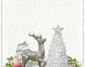OOAK Shabby Pink Christmas Etsy Shop Banner and Avatar set by Tattered Bella