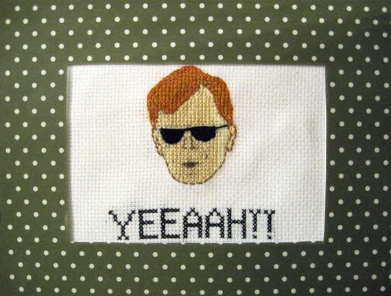 Horatio Caine / David Caruso Cross Stitch of Awesome