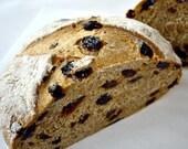 3 Loaves Vegan Non-GMO SPELT Cinnamon Raisin Breads Whole Grain Healthy Food Handmade Baked Goods Artisan