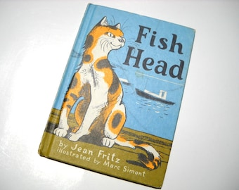 1970s Childrens Book Fish Head by Jean Fritz