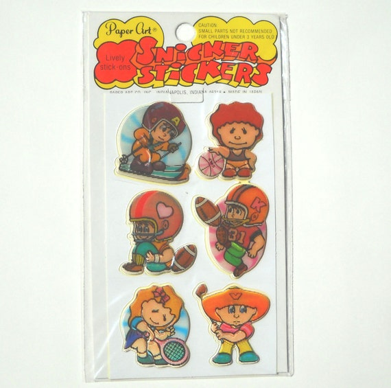 1980s Stickers: Sports Puffy Stickers Unopened