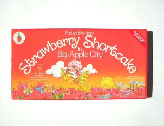 Strawberry Shortcake Board Game: Vintage 1980s