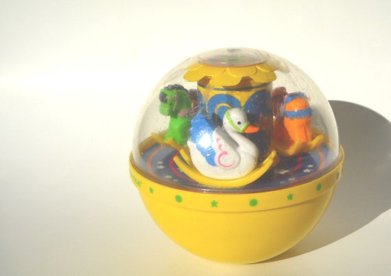 Fisher Price Chime Ball Yellow 1980s Toy