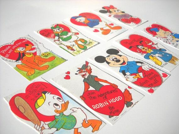 1970s Vintage Valentines: Disney Characters Unused