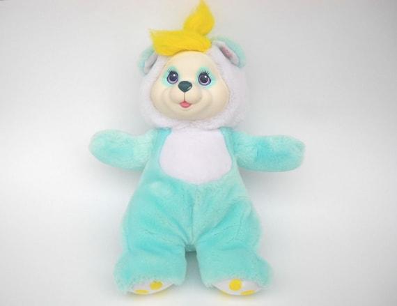Cub Surprise Teddy Bear: Aquamarine Panda Mama Bear 90s Hasbro Toy