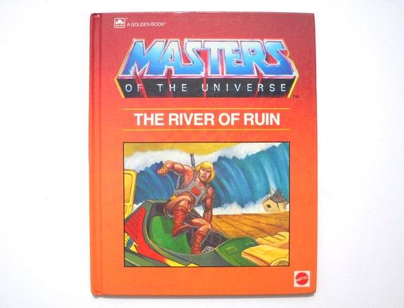 Vintage 1980s He Man Book: MOTU River of Ruin