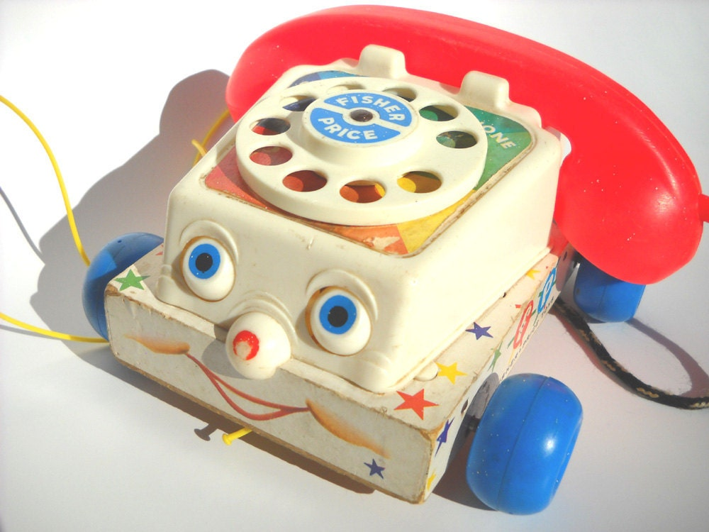 Classic Fisher Price Toys : Fisher price chatter telephone vintage toy