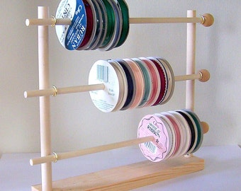 Spool Ribbon Holder Storage Rack Wire Organizer
