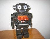 Piston Robot Battery Operated  Japan  1970's