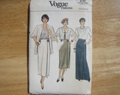 Vogue Pattern 9197 Misses' Skirt  1980's  Uncut