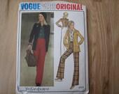 Vintage Vogue Paris Original Pattern 2727 Yves Saint Laurent Misses' Jacket, Shirt And Pants 1970s  Uncut