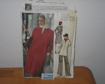 VOGUE AMERICANA Pattern 1158  Anne Klein Misses'  Dress, Tunic, Pants And Blouse with Vogue Americana Label   1970's   Uncut