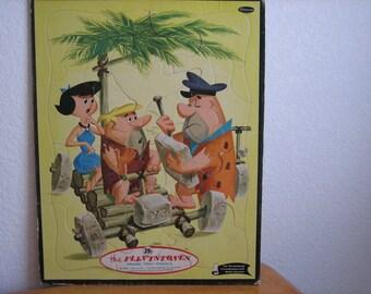 Vintage the FLINTSTONES Frame Tray Puzzle No. 4428   1960