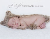 Crochet baby Bear Hat  Photography Prop Ready Item