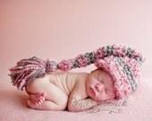 2 Big Tassel Elf Striped Hats baby Newborn Photography Prop