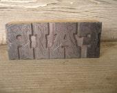 vintage wood and metal letterpress word FAIR