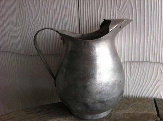 vintage aluminum pitcher / farmhouse kitchen
