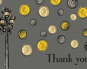 Thank You card - Street Lamp with Stars