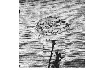 Wetlands Photo etching. Hand Inked and Hand pulled by artist.