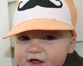 Baby Boy Trucker Mustache hat, NB-24M