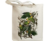 Carolina Parrots Eco Friendly Canvas Tote Bag (id7016)