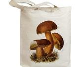 Mushroom 17 Vintage Eco Friendly Canvas Tote Bag (ixp017)