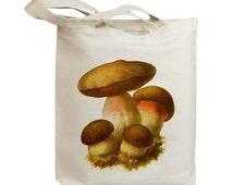 Mushroom 15 Vintage Eco Friendly Canvas Tote Bag (ixp015)