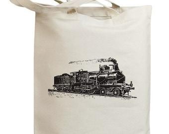 Retro Train 01 Eco Friendly Tote Bag (no. id0021)