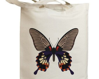 Butterfly 06 Eco Friendly Canvas Tote Bag (id0090)