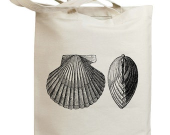 Retro Seashell 02 Eco Friendly Canvas Tote Bag (id0104)