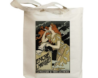 Encre L Marquet European Poster Ad Eco Friendly Tote Bag (id5302)