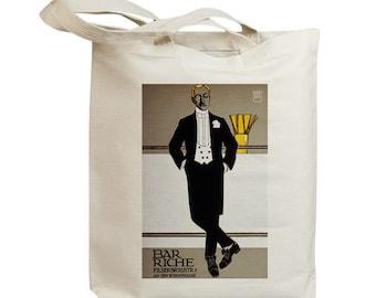 Bar Riche European Poster Ad Eco Friendly Tote Bag (id5351)