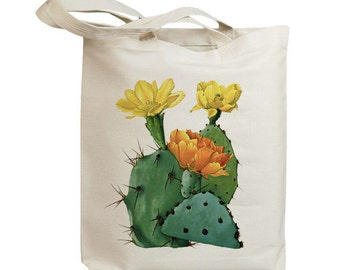 Retro Cactus Flower 06  Eco Friendly Canvas Tote Bag (id6605)