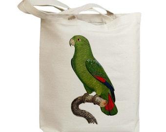 Retro Parrot 01 Eco Friendly Canvas Tote Bag (id5103)