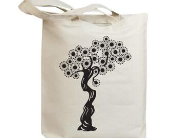 Korea Asia Vintage Tree 04 Eco Friendly Canvas Tote Bag (id6515)
