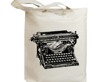 Retro Typewriter 08 Eco Friendly Canvas Tote Bag (id6707)