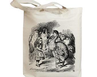 Alice in Wonderland John 07 Eco Friendly Canvas Tote Bag (id7553)