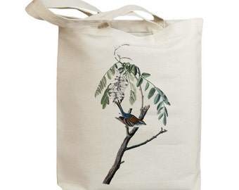 Chipping Sparrow Bird Eco Friendly Canvas Tote Bag (id7023)