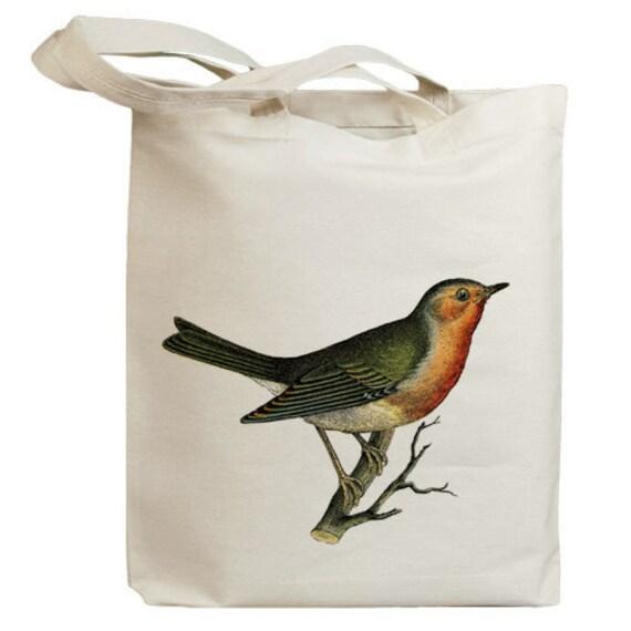 Retro Song Bird Eco Friendly Canvas Tote Bag (id0115)