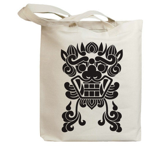 Korea Asia Vintage Mask 03 Eco Friendly Canvas Tote Bag (id6502)