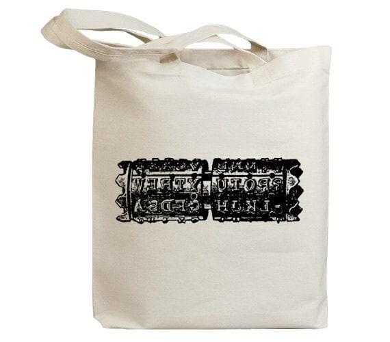 Retro Typewriter 09 Eco Friendly Canvas Tote Bag (id6708)