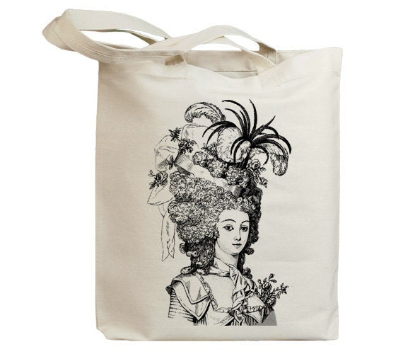 Retro Lady with Hat Vintage Eco Friendly Canvas Tote Bag (idb0018)