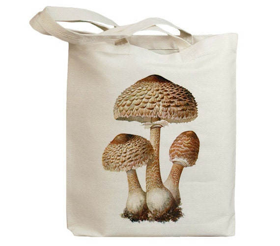 Mushroom 13 Vintage Eco Friendly Canvas Tote Bag (ixp013)