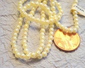 50 Classic Cream Vintage Made in Japan 4 MM Faux Pearls Round Beads