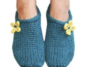 Two hour toe up slippers knitting pattern (PDF Download)