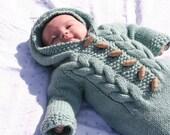Top down Baby Bunting - (knitting pattern PDF download)