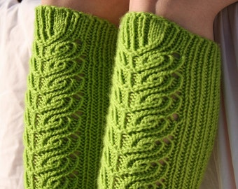 Knee high socks -knitting pattern (PDF download)