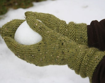 New England mittens - (knitting pattern PDF download)