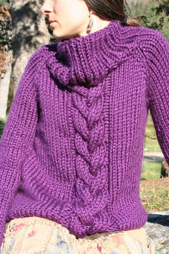 Chunky Knit Jumper Pattern Free : chunky sweater KNITTING PATTERN