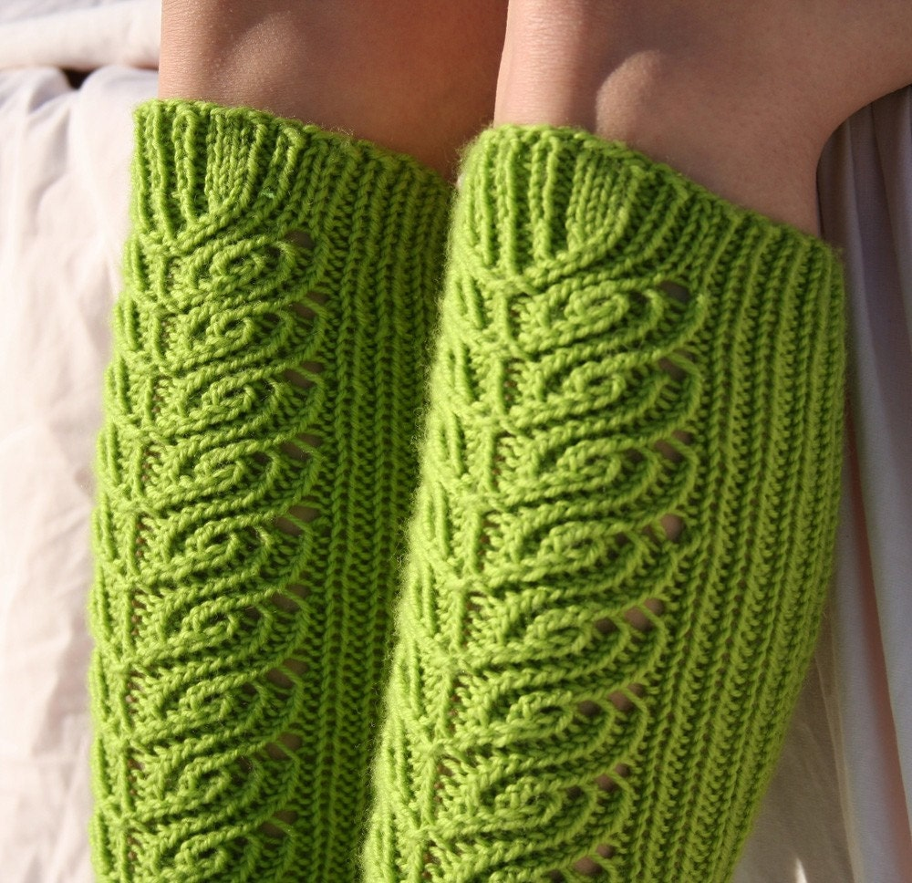 Knee high socks knitting pattern PDF download